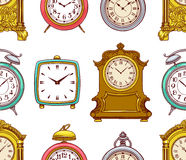 Seamless colorful vintage clock Stock Photography