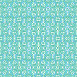 Seamless colorful watercolor ethnic pattern. Royalty Free Stock Photos