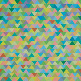 Seamless colorful zig zag triangle pattern Royalty Free Stock Photo