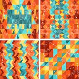 Seamless colorfull geometric patterns in retro Royalty Free Stock Photo