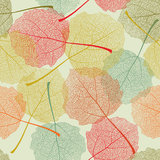 Seamless colors leaves pattern Stock Photo