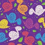 Seamless colour snails Stock Image