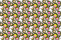 Seamless coloured circles Royalty Free Stock Photography
