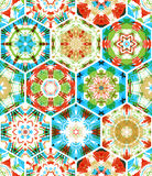 Seamless colourful ethnic textile pattern. Stock Photo