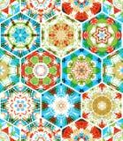 Seamless colourful ethnic textile pattern. Stock Photo