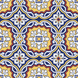 Seamless colourful ornament tiles. Background vintage flower. Seamless floral pattern. Abstract wallpaper. Texture royal vector. Fabric illustration Royalty Free Stock Photography