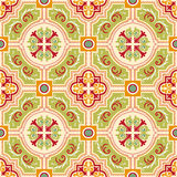 Seamless colourful ornament tiles Stock Photos