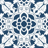 Seamless colourful ornament tiles Stock Photography