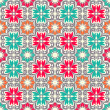 Seamless colourful ornament tiles Royalty Free Stock Photos