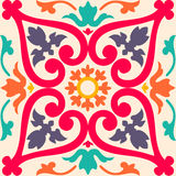 Seamless colourful ornament tiles Stock Photos