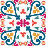 Seamless colourful ornament tiles Stock Images