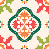Seamless colourful ornament tiles Stock Photo