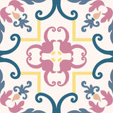 Seamless colourful ornament tiles. Beautiful seamless ornamental tile background vector illustration Stock Images