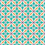 Seamless colourful ornament tiles. Beautiful seamless ornamental tile background vector illustration Stock Image