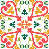Seamless colourful ornament tiles. Beautiful seamless ornamental tile background vector illustration royalty free illustration