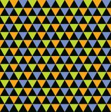 Seamless colourful triangle pattern background stock illustration