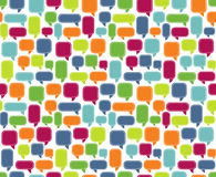 Seamless Comments. Seamless colorful commet bubble background Royalty Free Stock Photos