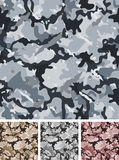 Seamless Complex Military Night Camouflage. Illustration of a set of complex abstract military camouflage for night with shades for army background and nocturnal Royalty Free Stock Image