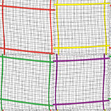 Seamless composition with colorful  rectangle fram Stock Photos