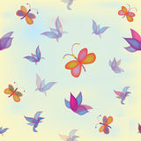 Seamless composition with flowers and butterflies Royalty Free Stock Image