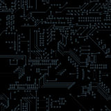 Seamless Computer Circuit Board. Technology solution Royalty Free Stock Photos