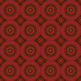 Seamless concentric circles pattern brown dark red Stock Photography
