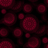Seamless concentric circles pattern dark red dark brown black blurred Stock Photos