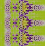 Seamless concentric circles pattern lemon lime green purple Stock Image