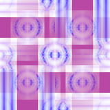 Seamless concentric circles and stripes pattern violet white purple blue overlaying shifty Royalty Free Stock Photos