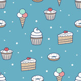 Seamless confection pattern Royalty Free Stock Image