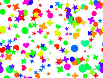 Seamless confetti carnival. Seamless colorful confetti carnival background Royalty Free Stock Images
