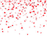 Seamless confetti hearts background Stock Photo