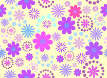 Seamless consists of flowers. In different colors Stock Photo
