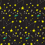 Seamless Constellations Stock Photos