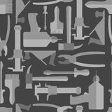 Seamless Construction Hand tools pattern. Royalty Free Stock Images