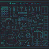Seamless construction icons vector illustration