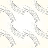 Seamless Contemporary Fleur-de-Lis. Vector interlocking circles repeat tile pattern Stock Photography