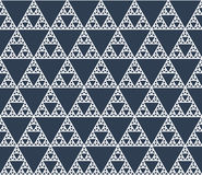 Seamless contour pattern of self-similar triangles Royalty Free Stock Photo