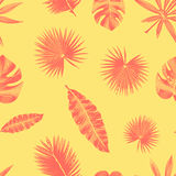 Seamless contour tropical pattern Stock Image