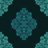 Seamless  contoured oriental  pattern Royalty Free Stock Images