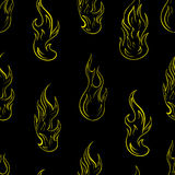 Seamless contours of fire Stock Photos