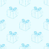 Seamless contours of gifts Royalty Free Stock Photos