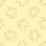 Seamless contours of the sun brown. Seamless texture with brown contours of the sun Stock Photography
