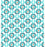 Seamless contrast abstract pattern with squares isolated on whit. E background Stock Image