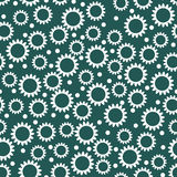 Seamless contrast pattern with small flowers Stock Image