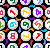 Seamless contrasting background with numbers in balls Stock Photography