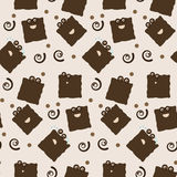 Seamless cookie character tile Royalty Free Stock Photo