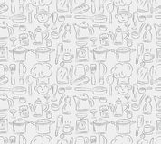 Seamless cooking pattern Royalty Free Stock Images