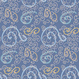 Seamless Cool Curls. A seamless background of hand-drawn curly shapes Royalty Free Stock Image