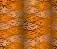 Seamless copper leaves background Stock Images